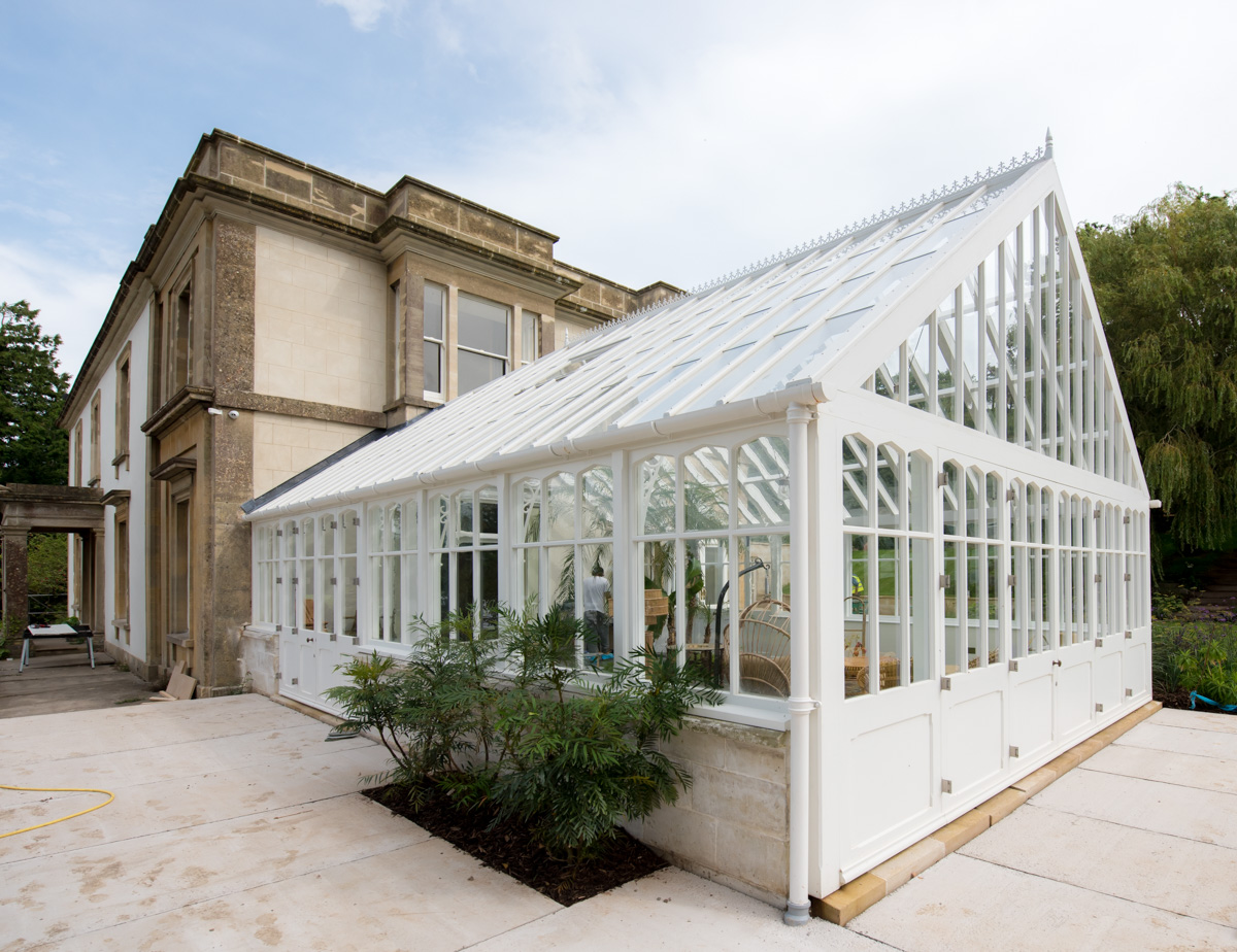 Exterior view of bespoke timber conservatories designed in the South West