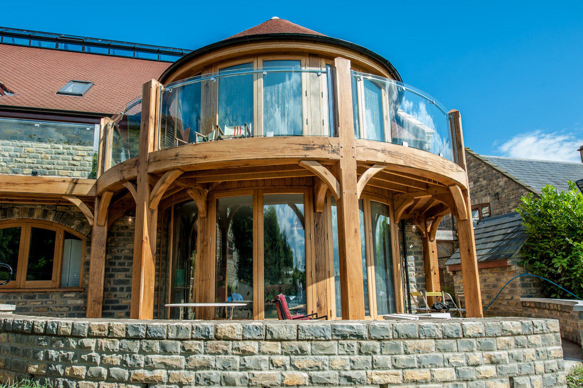 Circular Timber Framed Building custom built in the South West
